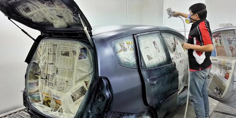 Ilustrasi Mengecat Mobil, sumber ig kilasdaerah.kompas.com